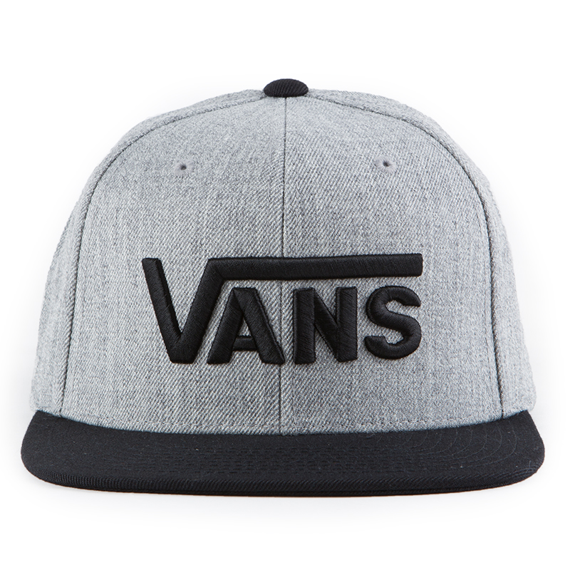 212cf5bfc54 The Vans Drop V Snapback Hat in the Heather Grey Blue Colorway is a 80%…