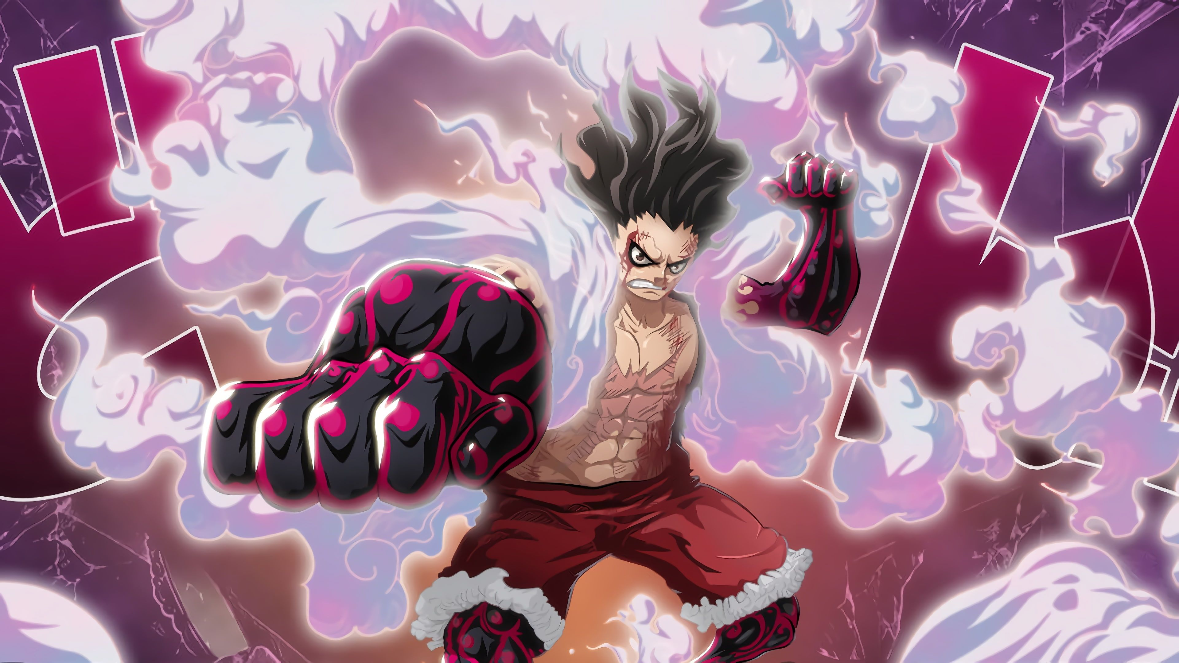 One Piece Monkey D Luffy Gear Fourth Snakeman 4k Wallpaper Hdwallpaper Desktop Luffy Gear Fourth Luffy Anime