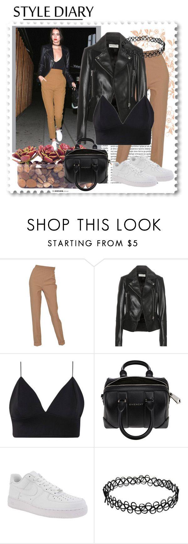 """Kendall Jenner"" by xcuteniallx ❤ liked on Polyvore featuring Hermès, Balenciaga, Givenchy, NIKE and John-Richard"