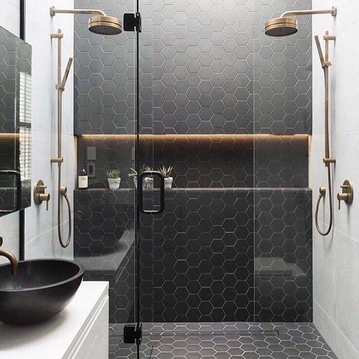I Love The Floor Tile Running Up The Wall Bathroom Interior