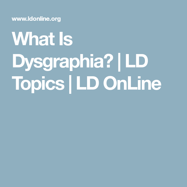 Accommodating students with writing disabilities dysgraphia