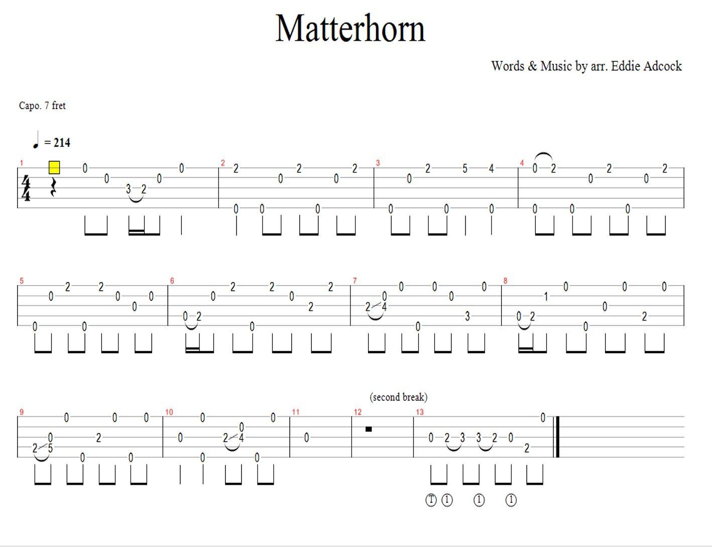 Matterhorn banjo tabulaturytablaturetabtabs banjo matterhorn banjo tabulaturytablaturetabtabs hexwebz Gallery