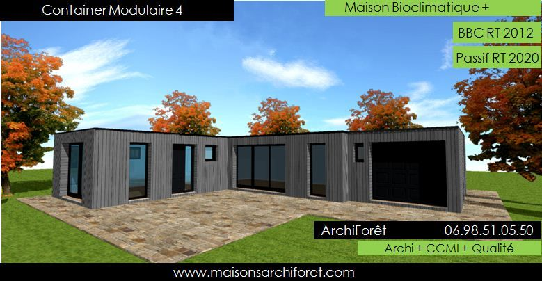 Maison toit plat et toiture terrasse bac acier ou siplast acrotere - maison bois en kit toit plat