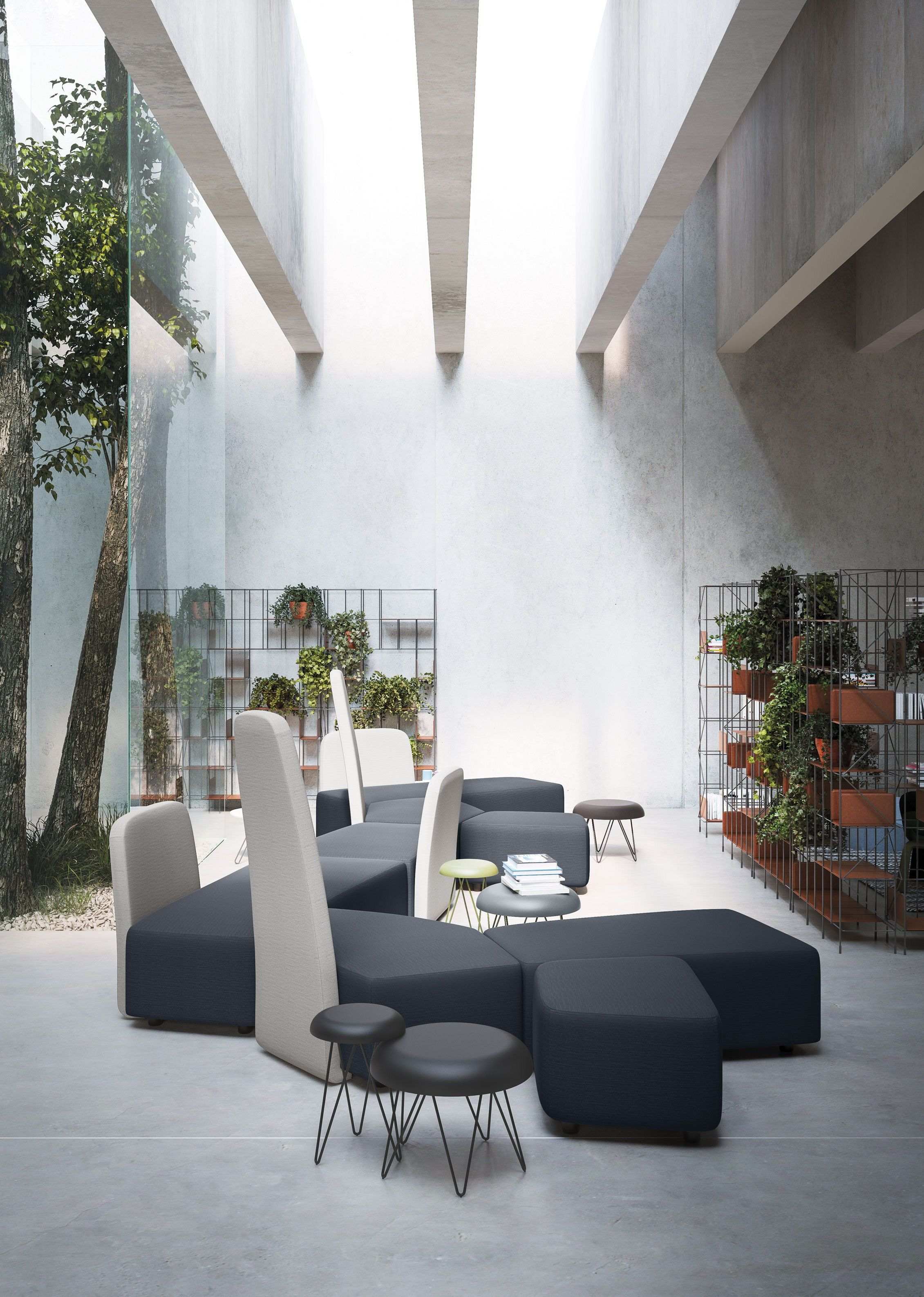 Sectional modular sofa BEN GRIMM By Casamania & Horm