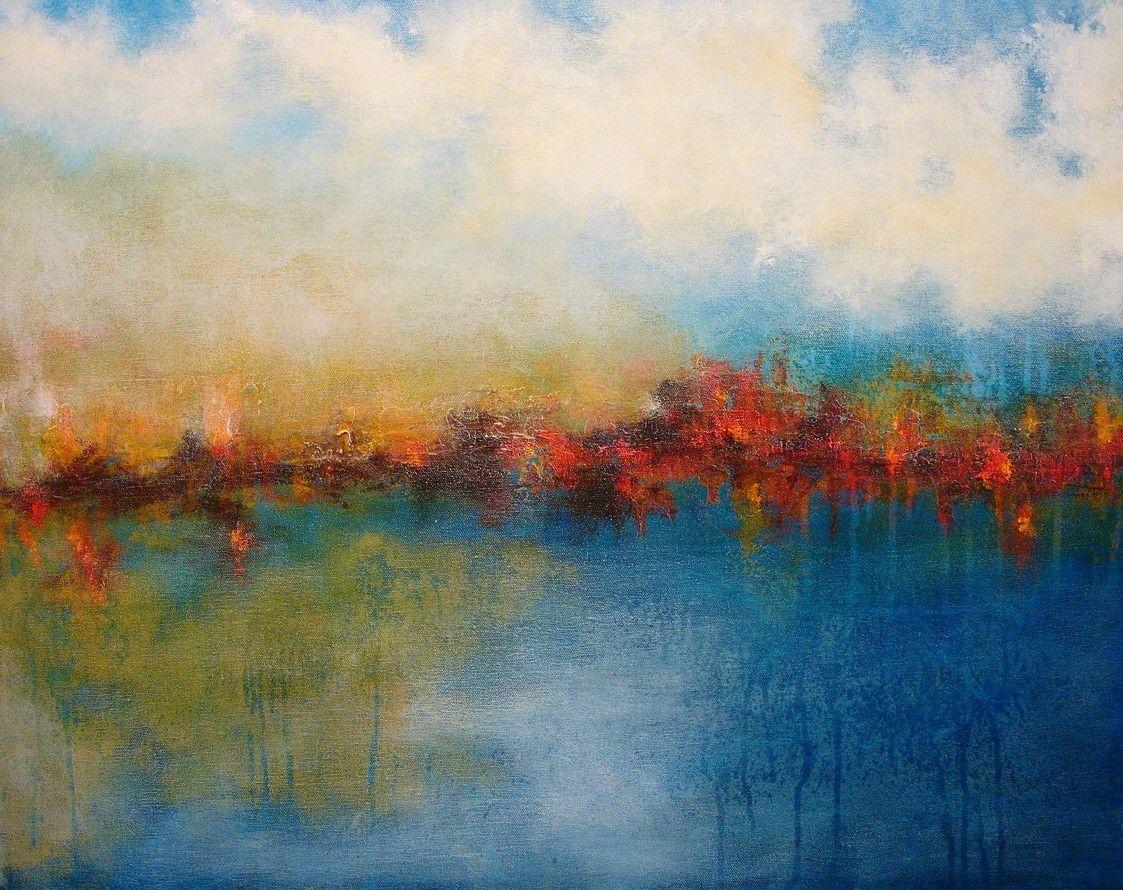 """Mystery"" is acrylic on 25""x 22"" canvas by local artist, Jagoda Lane."
