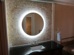 Round Light Up Bathroom Mirror