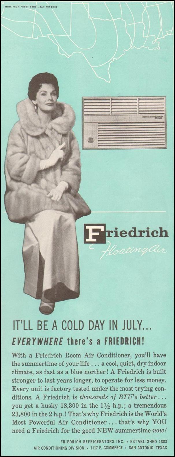1960 Friedrich AirConditioner VintageAd Vintage ads