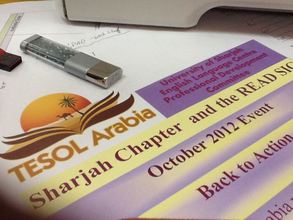 TESOL Arabia Sharjah Chapter & READ SIG CPD Event Sat Oct 13th U of Sharjah Community College 9am