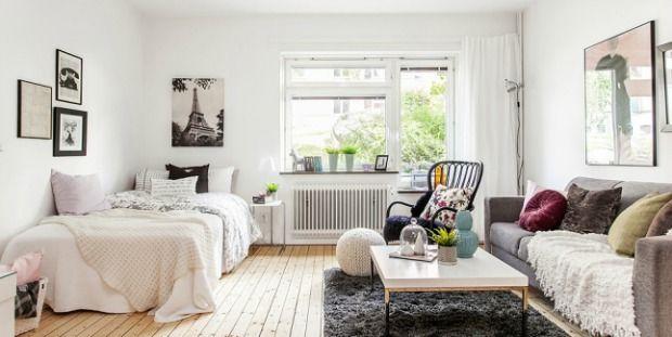 slaap-woonkamer-1 | Home! | Pinterest - Slapen, Appartementen en ...