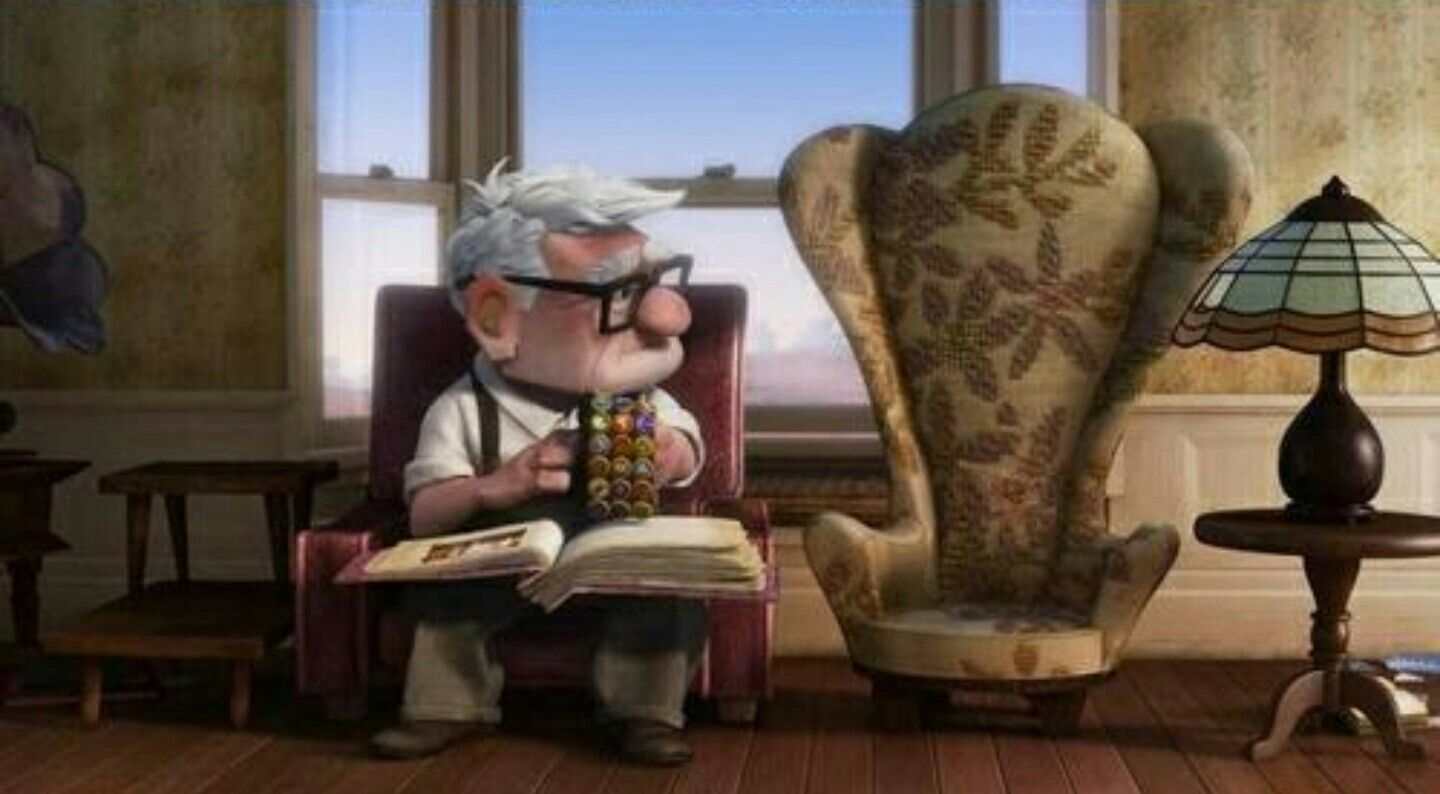 Day 8: Saddest moment - Ellie/Carl (Up). I cry a lot but I'm pretty sure  that I cried the most at this. | Up pixar, Disney pixar, Pixar