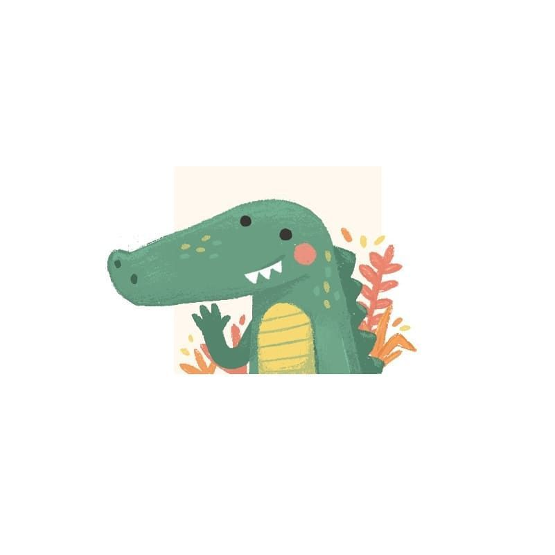 Friendly gator. Another tiny illustration for the one inch challenge from @illus... - #aillus #another #challenge #friendly #Gator #illus #Illustration #inch #tiny