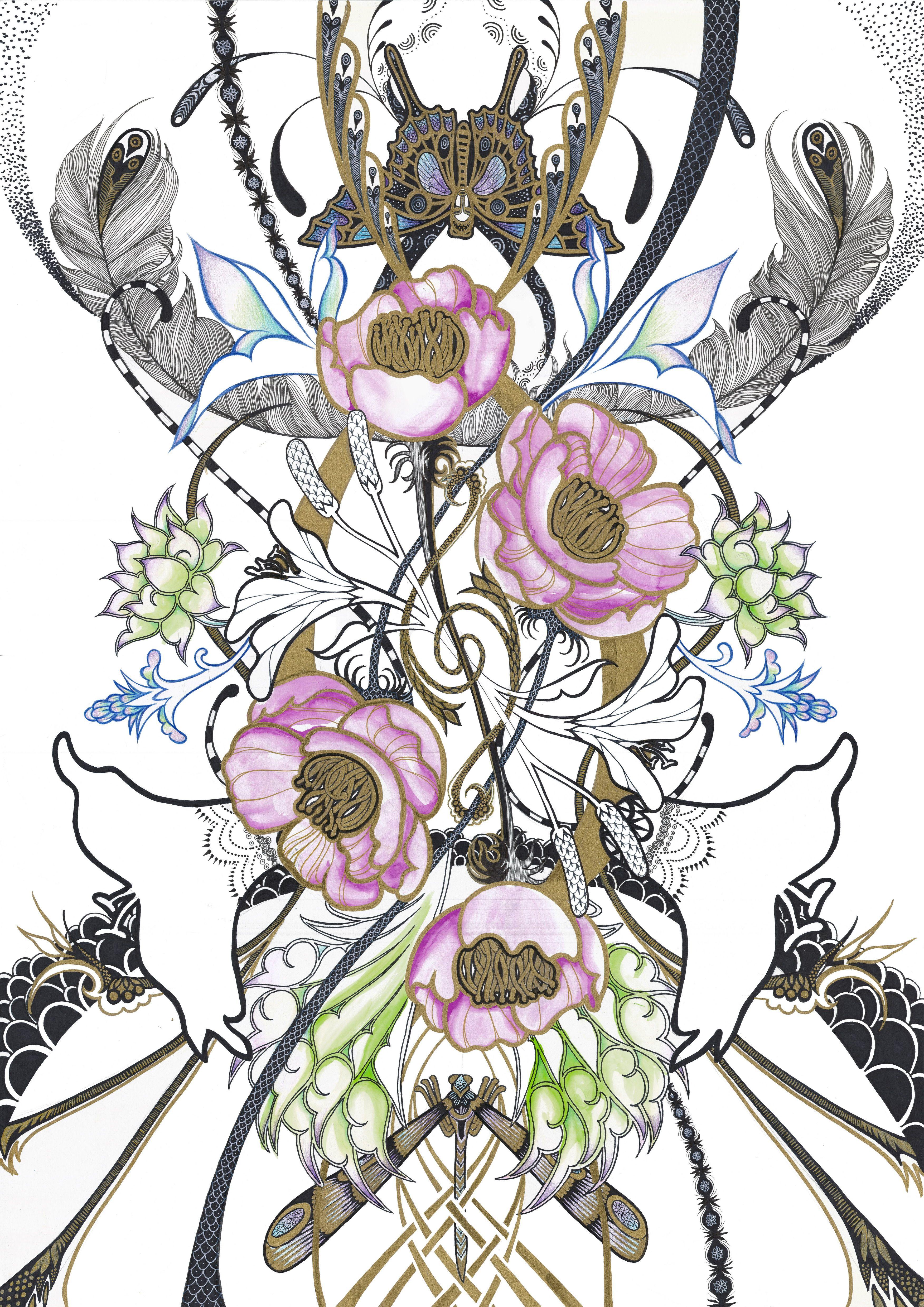 Art Nouveau Flowers Food Ideas
