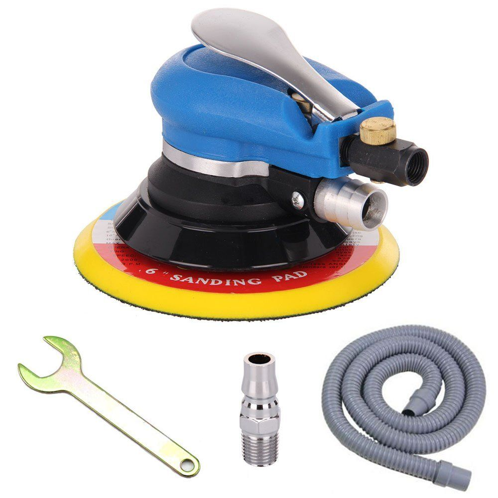 Anesty 6 Air Random Orbital Sander Dual Action Pneumatic Orbit Polisher Grinding Sanding Tools With Vacuuming Only 22 99