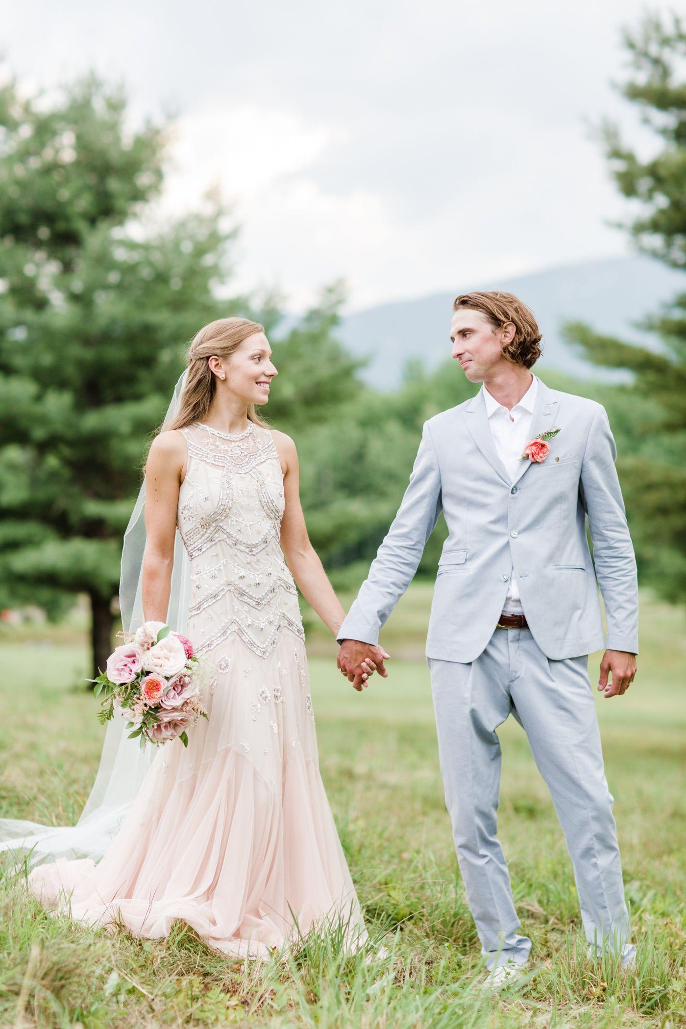 Outdoor summer wedding dresses  Lis u Pearson Vermont Summer Rose On The Dance Floor Wedding