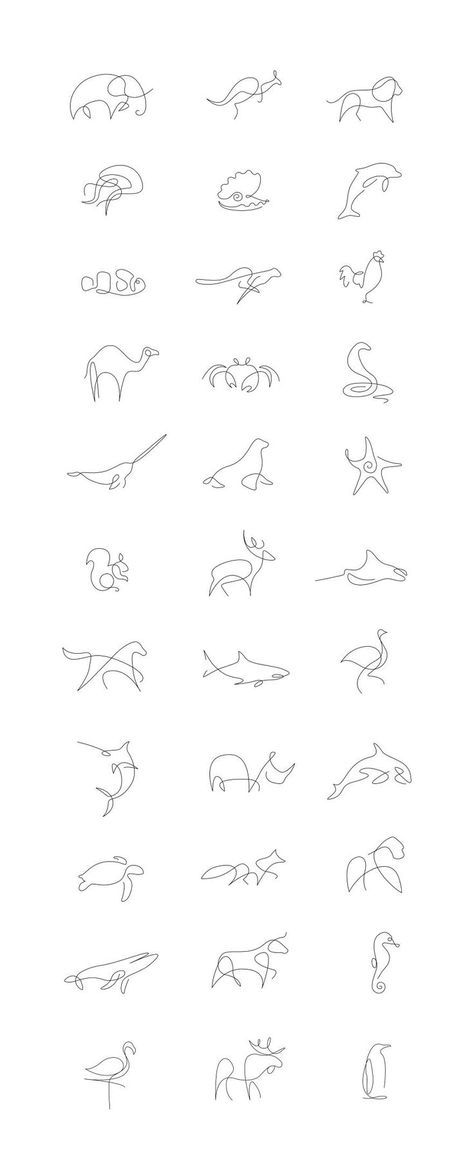 Cooltop Tiny Tattoo Idea Minimalist One Line Animals By A French Artist Duo Bored Panda Old Women With Tattoos Line Tattoos Trendy Tattoos
