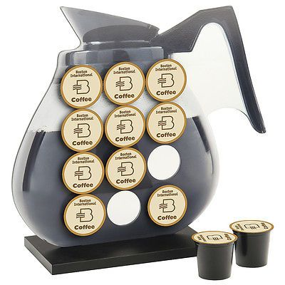 New Laminate Coffee Pot Shaped K Cup Holder Display Rack