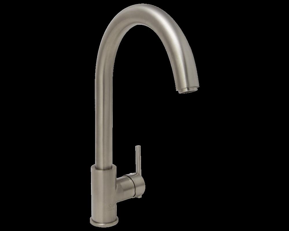 Brushed Nickel Single Handle Kitchen Faucet Faucet Brushed