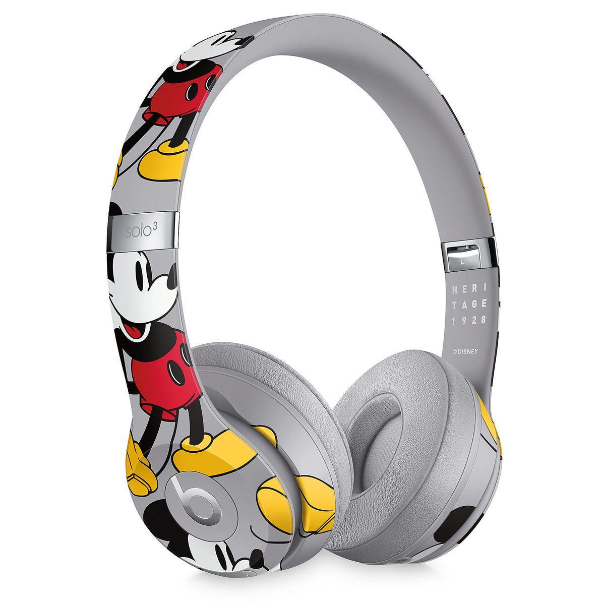 Beats Solo3 Wireless Headphones Mickey S 90th Anniversary Edition Gray Wireless Headphones Headphones Cute Headphones