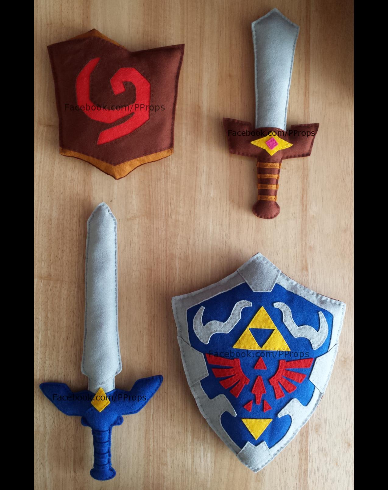 oot deku shield 2 kokiri sword 1 master sword 2 and