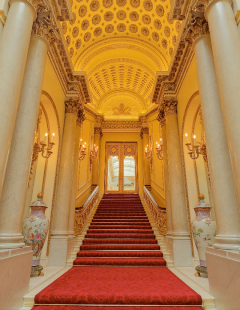 Stairway To The Queen 39 S Office In Buckingham Palace