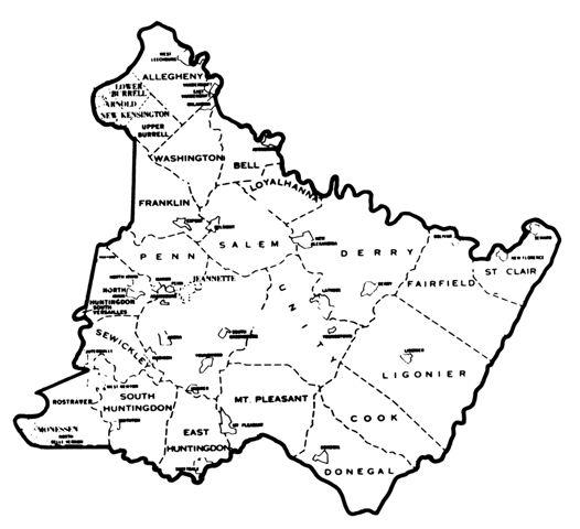 Westmoreland county township map genealogy pinterest genealogy westmoreland county township map publicscrutiny Images