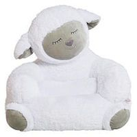 Trend Lab Lamb Children's Plush Character Chair - White
