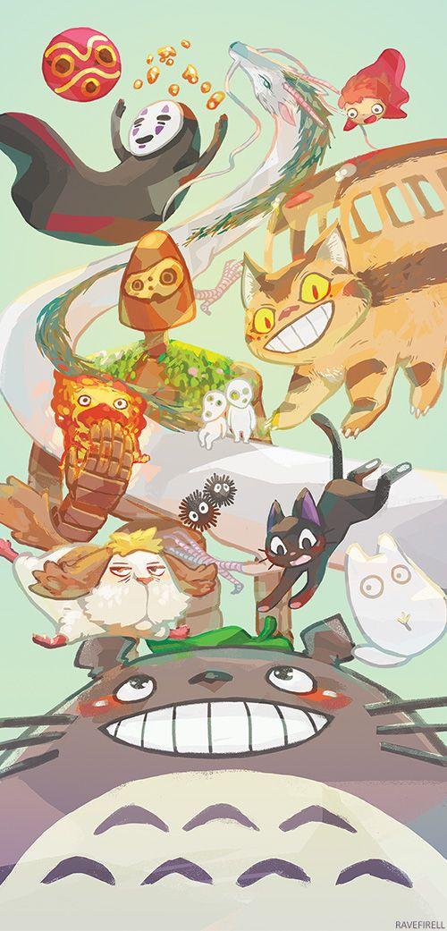 Ghibli Companions by ravefirell.deviantart.com on @DeviantArt