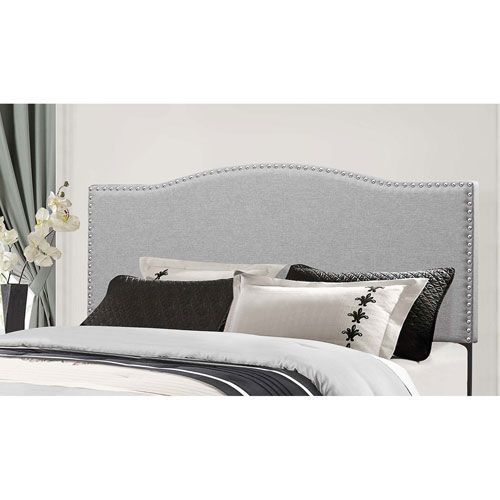 Kiley Full/Queen Headboard without Frame - Glacier Gray Fabric ...