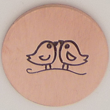 8mm Love Birds Metal Design Stamp Metal Jewelry Stamping Tool The