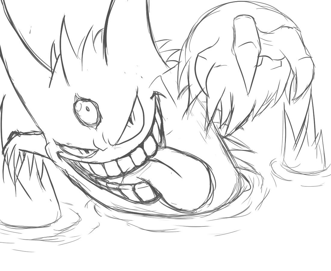 Pokemon Coloring Pages Mega Gengar Com Imagens