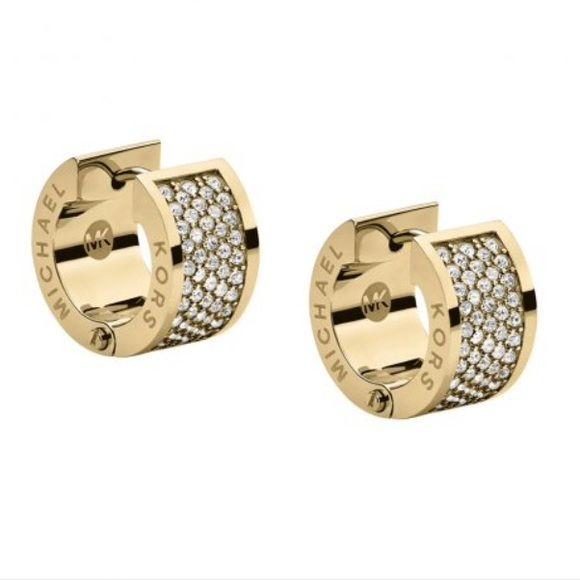 michael kors gold huggie hoop earrings