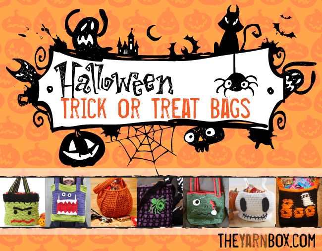 Collection of Halloween Trick or Treat Bags from TheYarnBox.com ...