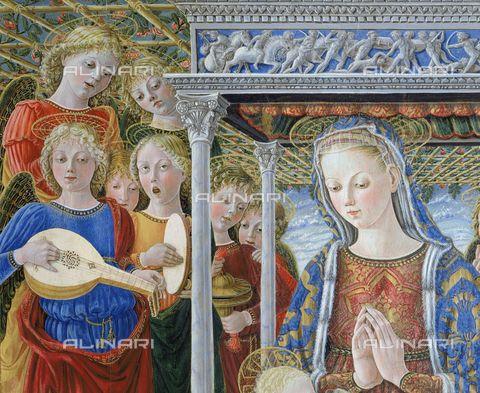 """Giovanni Boccati da Camerino - """"Madonna della Orchestra"""", dettaglio - c. 1455 - Galleria Nazionale dell'Umbria, Perugia"""