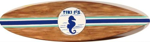 Surf Signs Decor Cool 5Ft Outdoor Wood Surfboard Pool Tiki Bar Beach Sign Personalized Inspiration