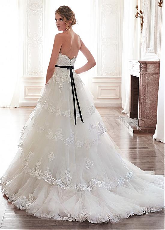 $219 Glamorous Tulle Sweetheart Neckline Natural Waistline A-line Wedding Dress With Lace Appliques