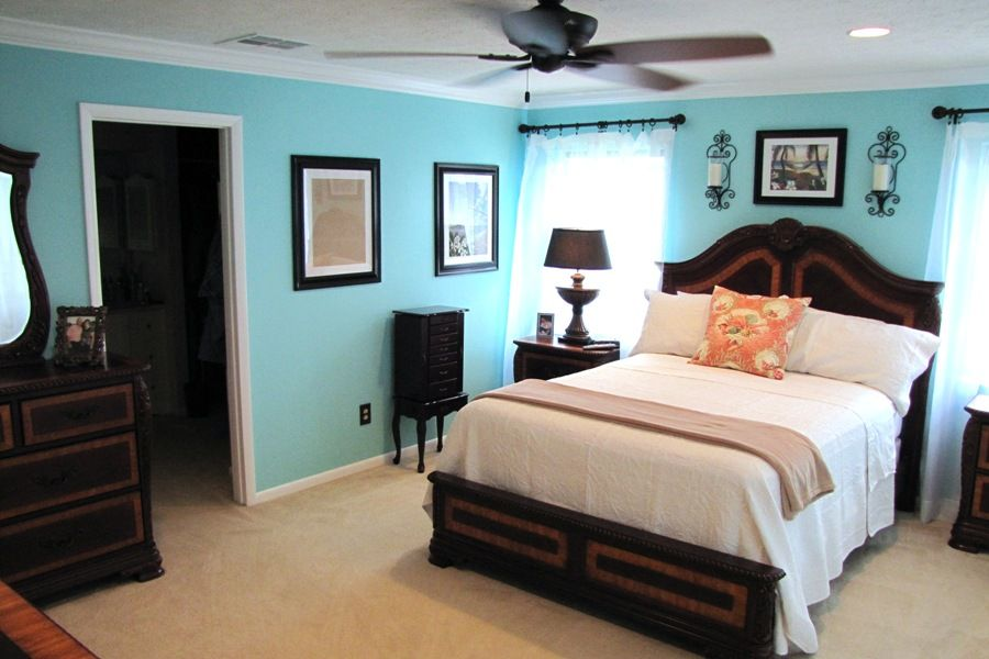 Best Tiffany Blue Master Bedroom Except The Fan Would Be White 400 x 300