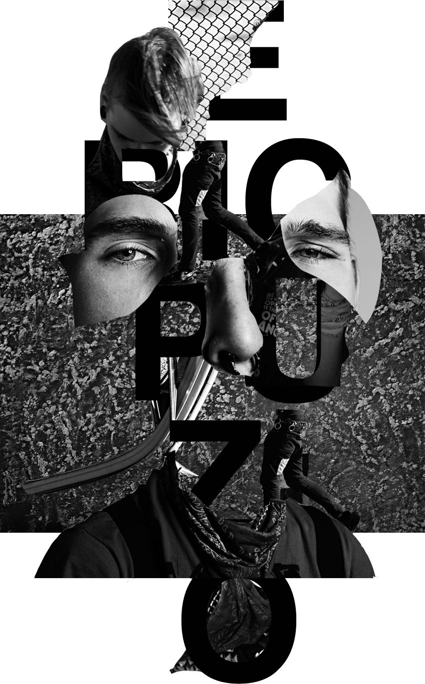 ERICPUZIO SLIMANE #graphic #design #diseño #grafico #collage ...