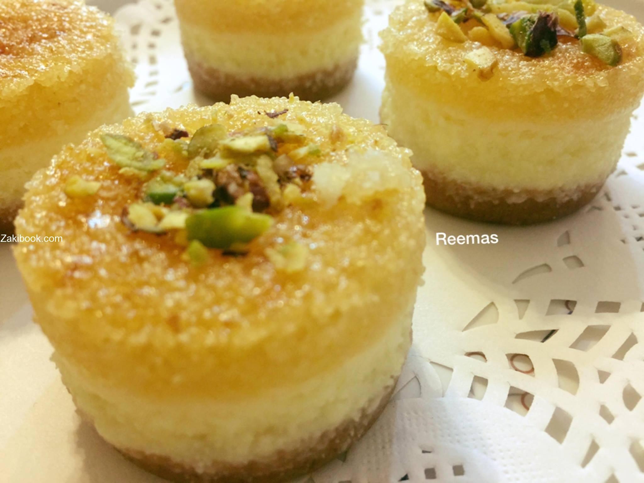 تشيز البسبوسة والله رووووووعة زاكي Desserts Arabic Desserts Eid Sweets