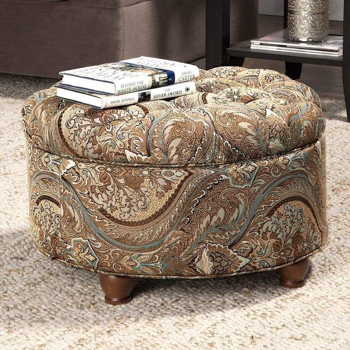 Phenomenal Homepop Button Tufted Round Storage Ottoman In 2019 Creativecarmelina Interior Chair Design Creativecarmelinacom