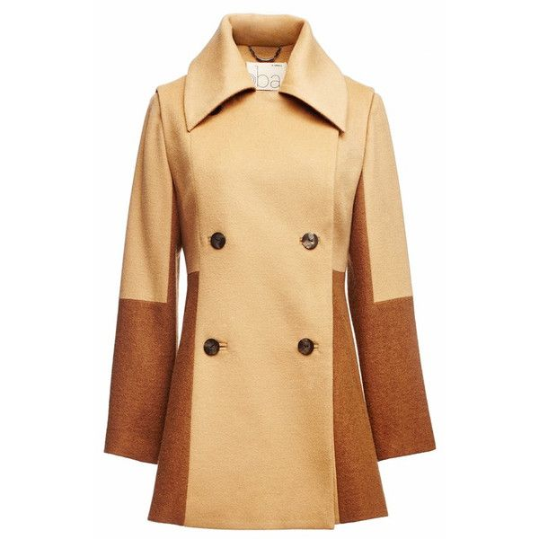 Oba Rothko Tannin Wool Pea Coat ($552) ❤ liked on Polyvore ...