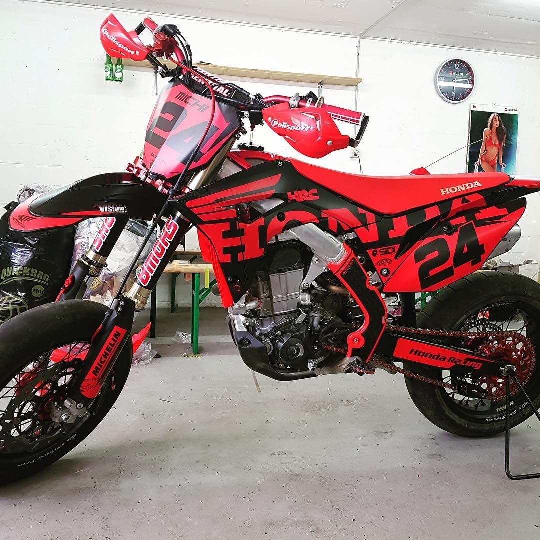 Bikegeneration Supermoto En Instagram Honda 450 Crf Michi Crf Bikegeneration In 2020 Supermoto Honda Motocross
