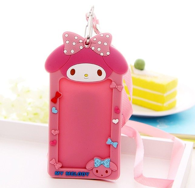 Cute Fashion 1pcs Card Case Holder Cartoon Melody Credit ID Bus Door Cards Cover Holder For Men Women Children Student