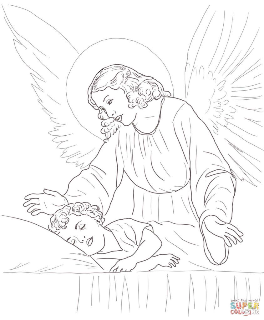 Complex Angel Coloring Page For Adults With Images Angel