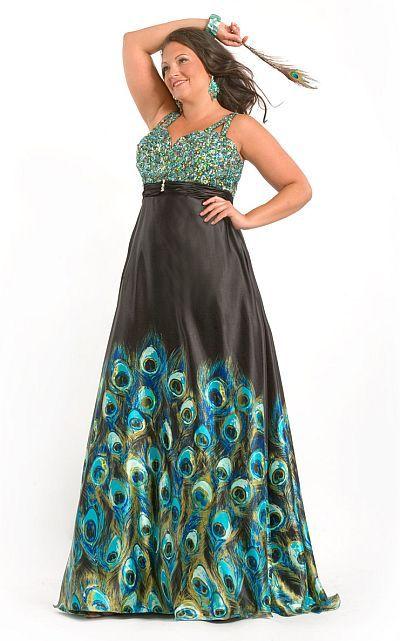 44++ Plus size peacock dress information