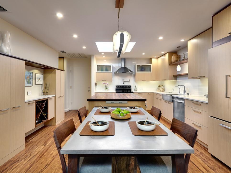 Neutral Eat-In Kitchen Full of Texture | Quartz countertops ...