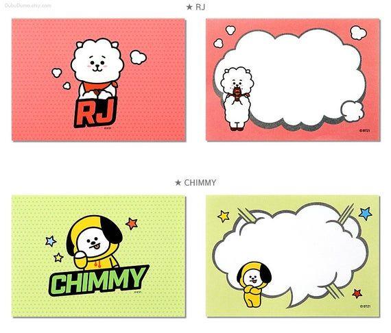 BT21 Memo Pad Pop / BTS Notepads Speech Bubble / K-POP / Scrapbooking / School Supplies / Koya, Chim