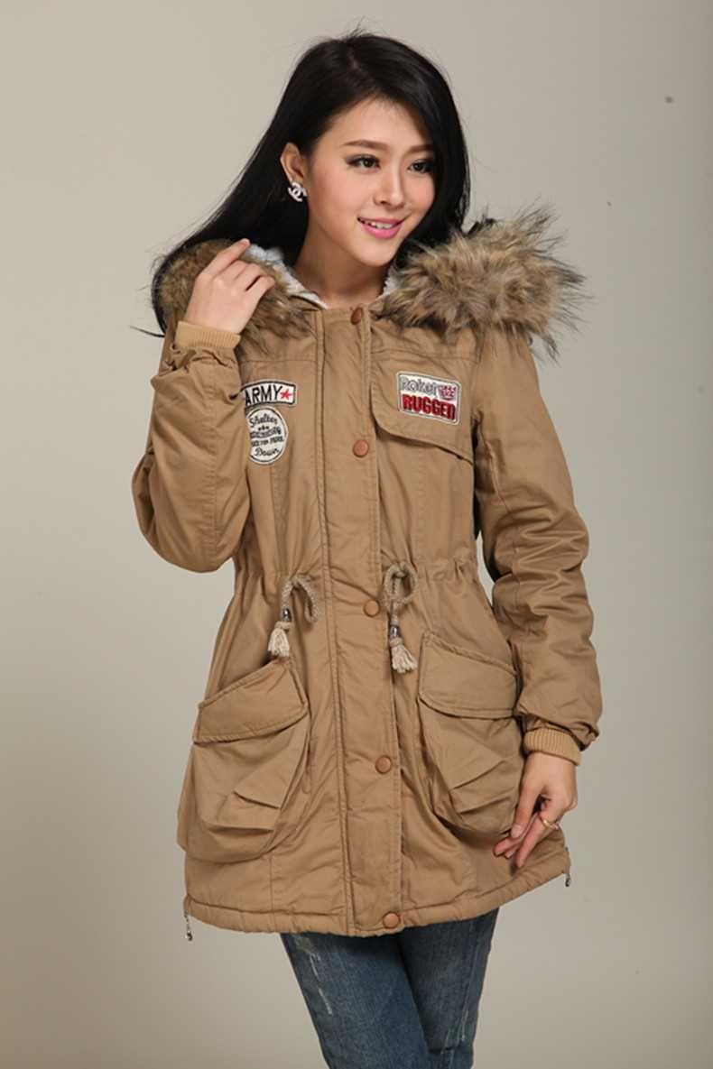 c1d493649 Click to Buy    Women Autumn Winter Thicken Wool Overcoat Wadded Jacket  Outerwear