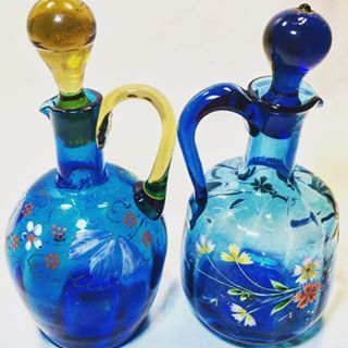 #antique #vintage #moser #cruet #cruets #art #paint #handpainted #glasslovers #glass #collect #shop #shopmycloset #beautiful #manicmonday www.bubblewrapbeauties.com