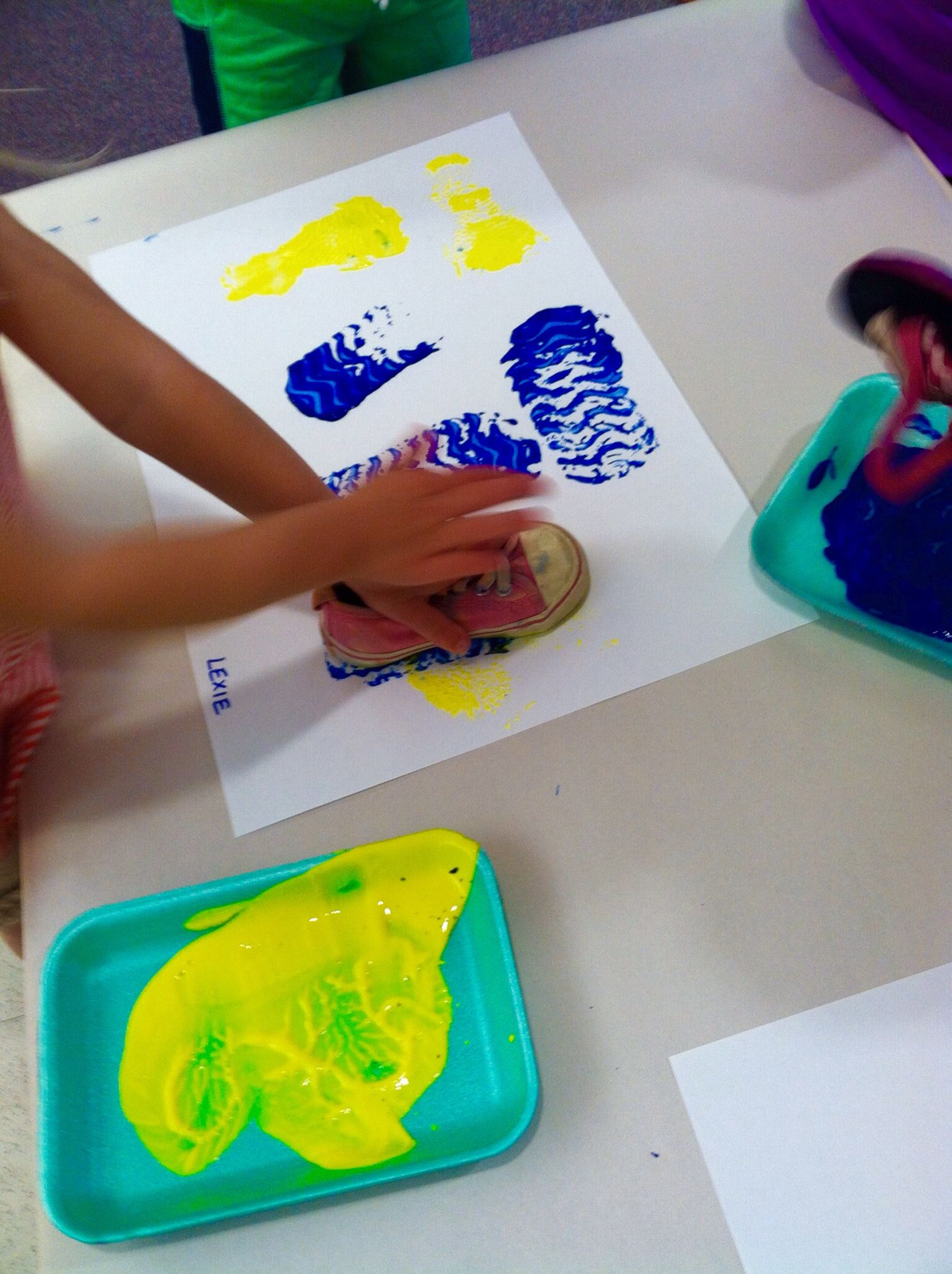 sponge painted elmer the elephant art activities kindergarten