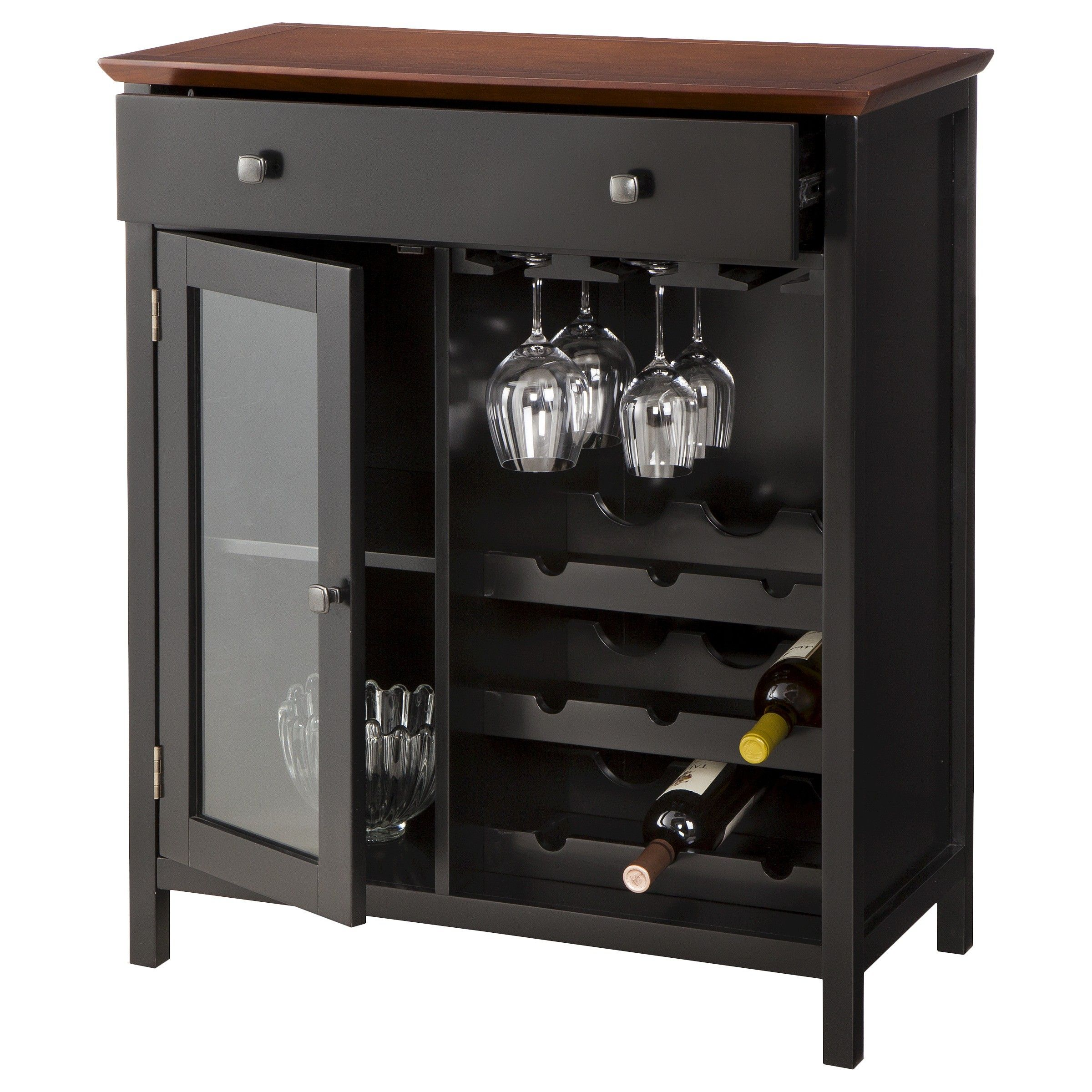 Kitchen Wine Cabinet Marin Wine And Storage Cabinet Tobacco Target Wine